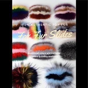 Fox Fur Slides